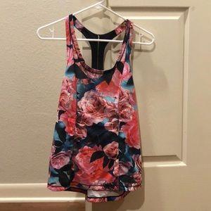 Lululemon floral tank top